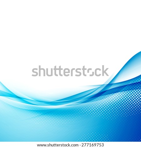 Smooth abstract border wave soft dotted background modern futuristic cool layout. Vector illustration - stock vector