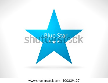 Smooth abstract star shape with texture in shades of blue. A design element with space for your text. EPS10 - stock vector