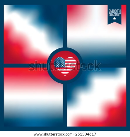 Smooth background of american color. - stock vector