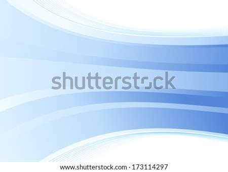 Smooth blue wave background. Vector illustration - stock vector