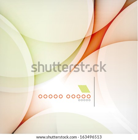 Smooth color wave abstract background - stock vector