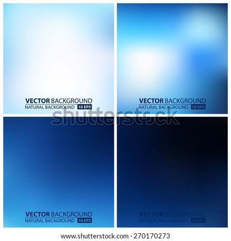 Smooth colorful backgrounds collection with aged effect - eps10. set of blue vector backgrounds - stock vector