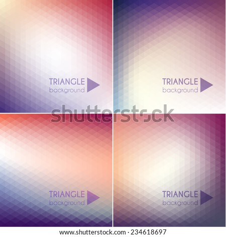 Smooth colorful geometric backgrounds set - stock vector
