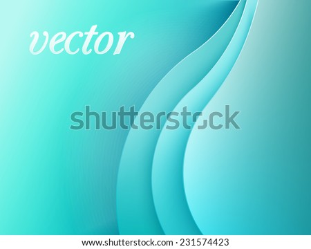Smooth curvy vector composition for elegant background - stock vector