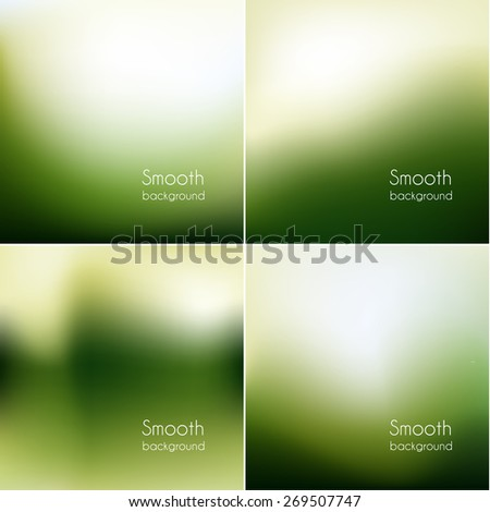 Smooth natural backgrounds collection - eps10 - stock vector