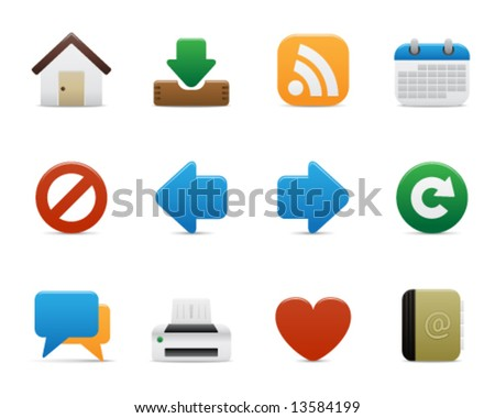 smooth series > internet icons - stock vector
