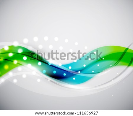 Smooth wave vector abstract background - stock vector