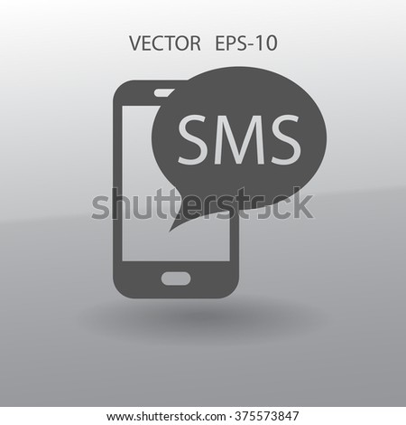 sms icon - stock vector