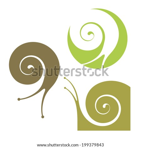Snail. Abstract insects on white background  - stock vector