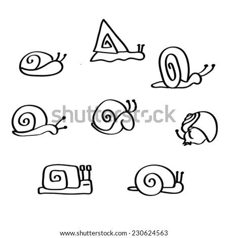 snail vector icon - stock vector