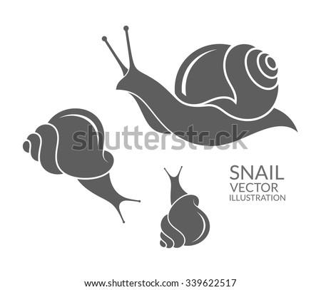Snails - stock vector