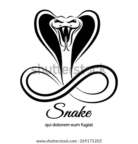 Snake logo. Animal graphic, danger viper or reptile or cobra, vector illustration - stock vector