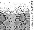 Snake Skin in Grayscale Over White Background - stock vector