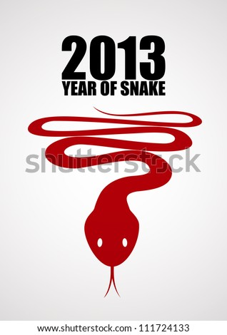 Snake, the symbol of year 2013. EPS10 poster - stock vector