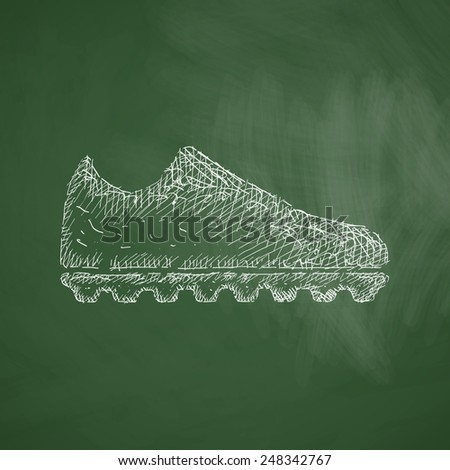 sneakers icon - stock vector