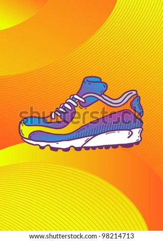 sneakers shoes - stock vector