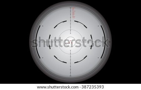 Sniper's scope sight view. Crosshair, reticle, viewfinder, target graphics - vector eps 10 - stock vector