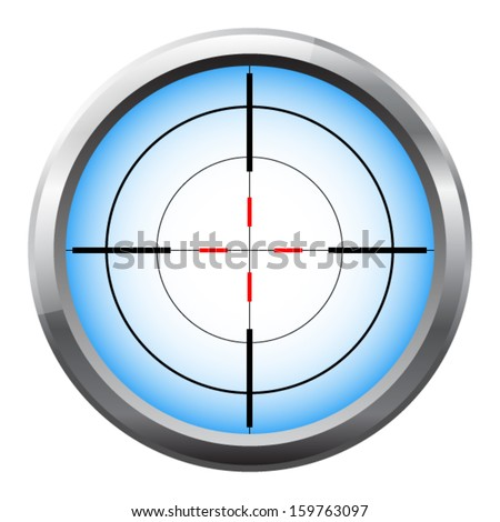 Sniper scope cross hairs - stock vector