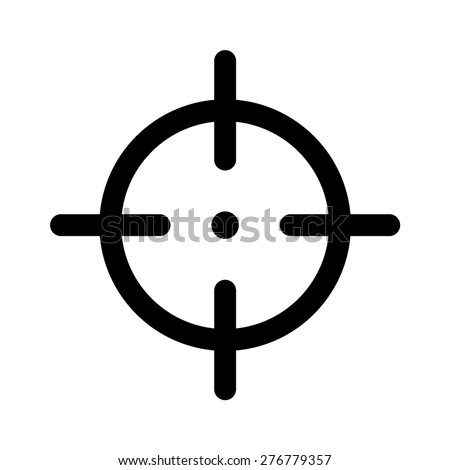 Sniper target flat icon for apps and websites - stock vector