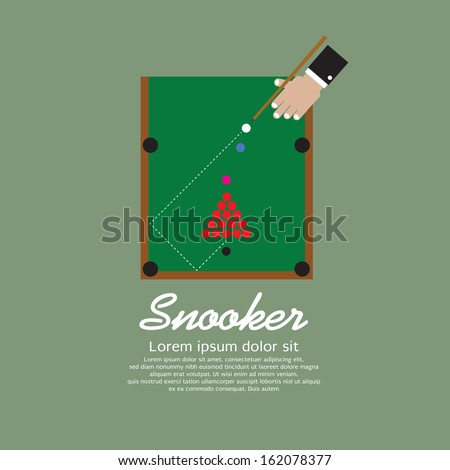 Snooker Playing Vector Illustration EPS10 - stock vector