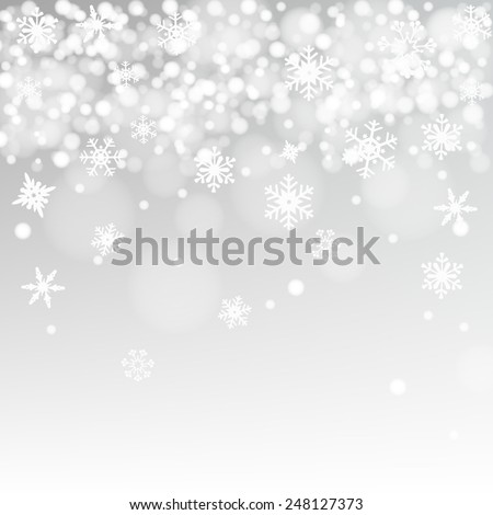 snow background vector - stock vector