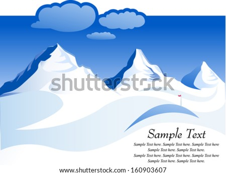 Snow capped Mountains - stock vector
