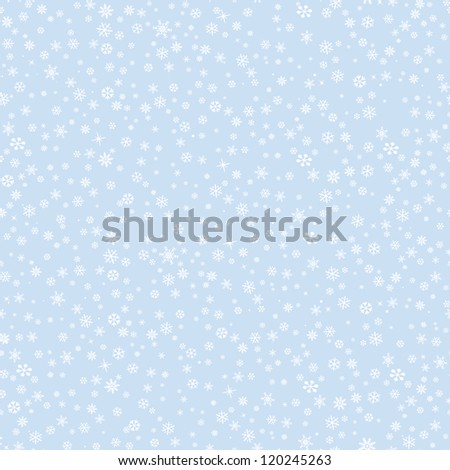 Snow pattern. Christmas seamless vector background.  - stock vector