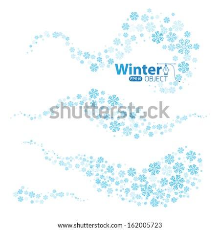 Snow swirls - stock vector