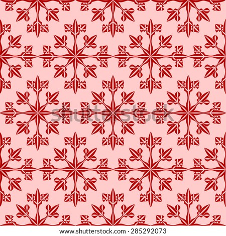 Snowflake seamless pattern for endless backgrounds, printings, Christmas and other creative designs. Editable vector. Eps 10 - stock vector