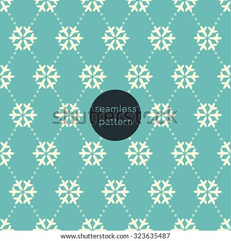 Snowflake seamless pattern. Vector illustration. - stock vector