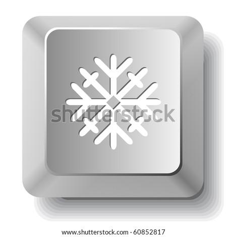 Snowflake. Vector computer key. - stock vector
