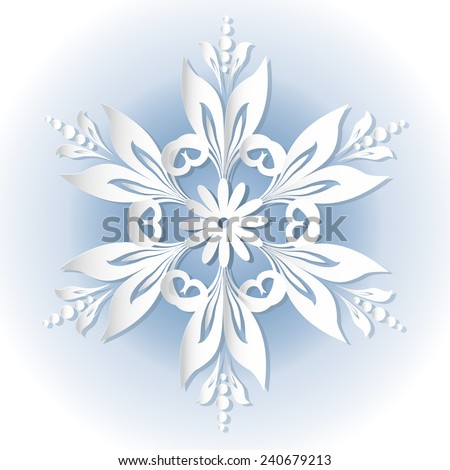 Snowflake. Vector illustration. EPS10 - stock vector