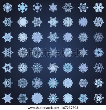 Snowflake Vectors  - stock vector