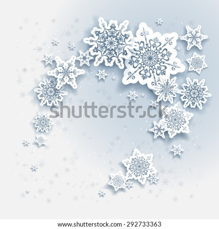 Snowflakes holiday Christmas background for banners, advertising, leaflet, cards, invitation and so on. - stock vector