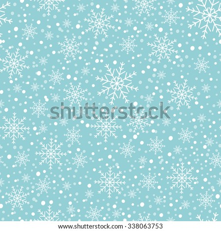 Snowflakes on a blue background. - stock vector