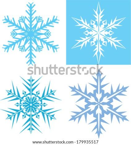 Snowflakes vector - stock vector