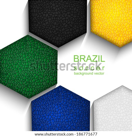 Soccer background  - stock vector