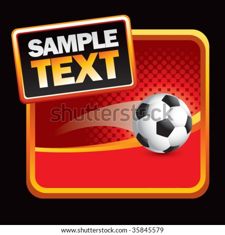 soccer ball flying on halftone background - stock vector