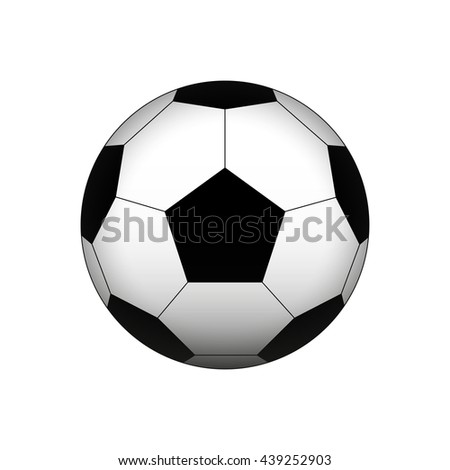 Soccer Ball. Football Ball. Vector Illustration - stock vector
