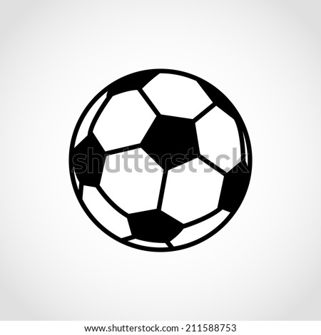 Soccer ball Icon Isolated on White Background - stock vector