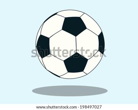 soccer ball on white eps10 illustration football - stock vector