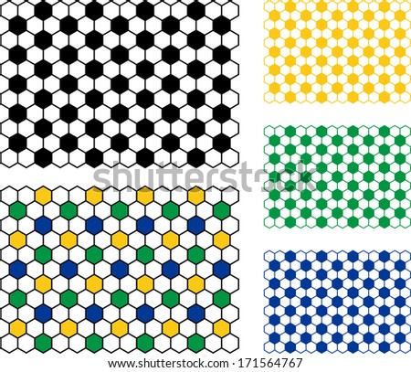 Soccer Ball pattern - stock vector