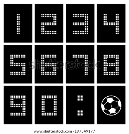 soccer ball score board number  - stock vector