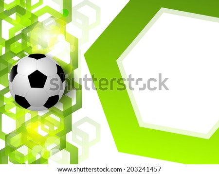Soccer ball vector background with polygon elements - stock vector