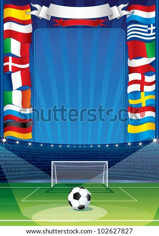 Soccer Ball with Flags - stock vector