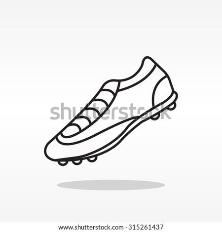 Soccer boots label - vector illustration - stock vector