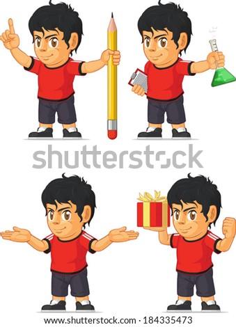 Soccer Boy Customizable Mascot 8 - stock vector