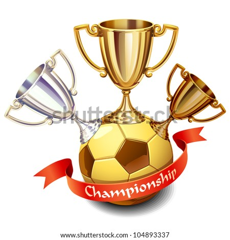 soccer championship icon - stock vector