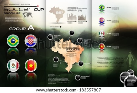 Soccer cup group A - stock vector