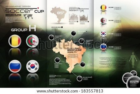 Soccer cup group H - stock vector